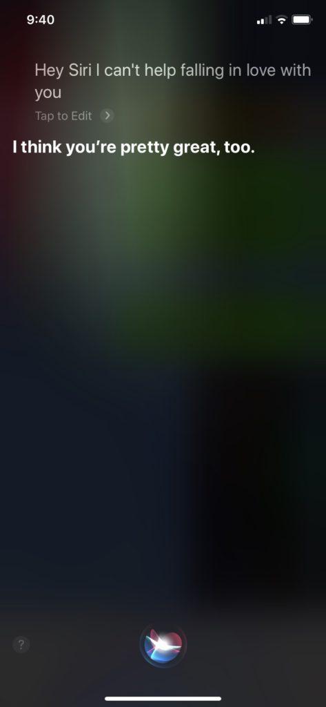 Siriの反応 ツンデレ