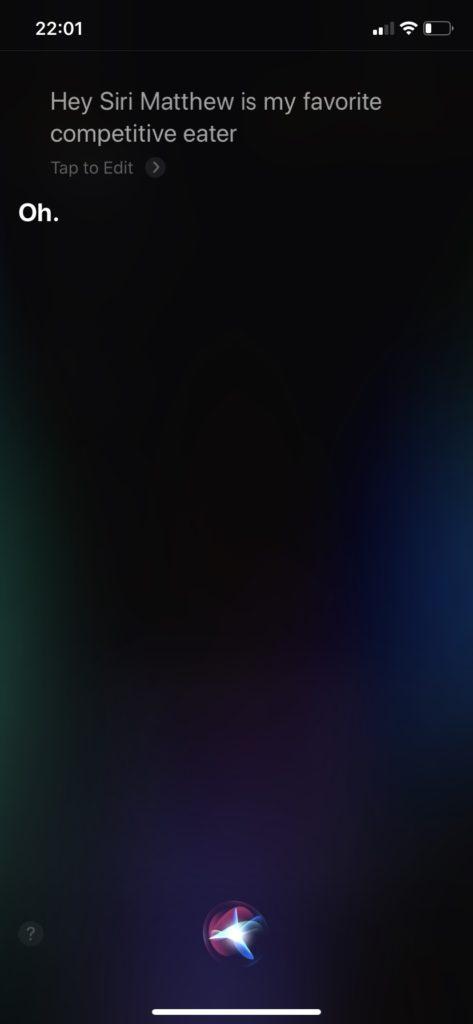 Siriの回答 英語