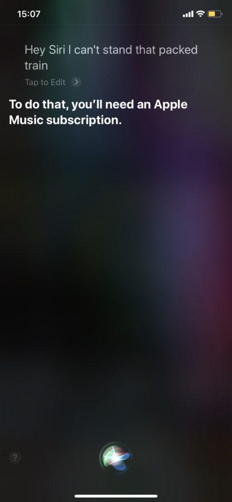 Siriの回答 英語 Sorry, I can't do that.