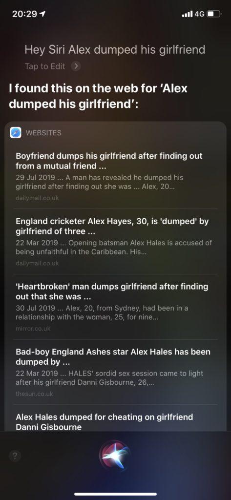 Siri 同情