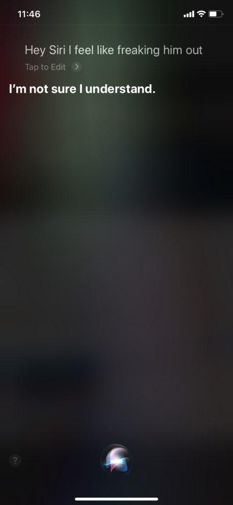 脅かす Siri