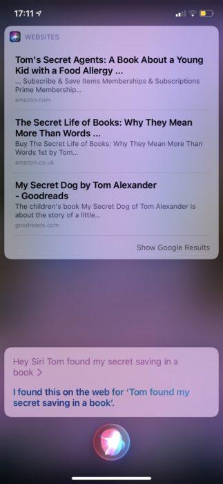Siriと会話 英語